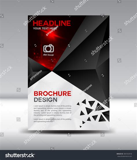 cover and profile template black vector brochure flyer cover design stock vector