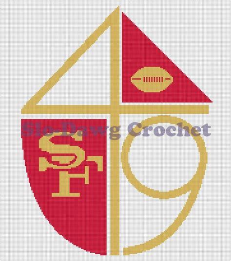 crochet pattern logos sf 49ers throwback logo crochet graph pattern