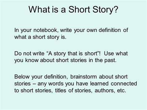 theme in short stories definition the short story ppt download