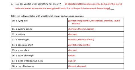 Energy Conversions Worksheet by Worksheet Energy Transformation Worksheet Caytailoc Free