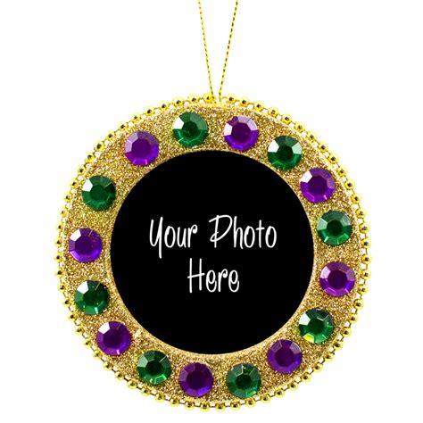 Ornament Photo Frame - 4 quot mardi gras photo frame ornament 37971ggp