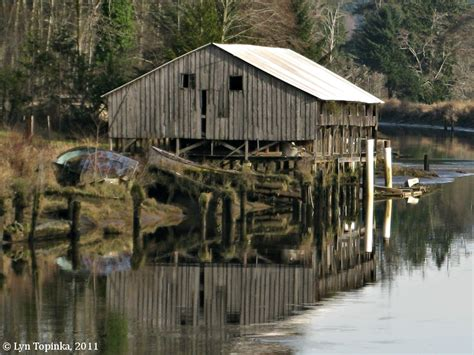 Slough Sheds by The Columbia River Slough Washington