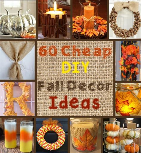 simple inexpensive fall table decorations 25 best ideas about fall decorations diy on