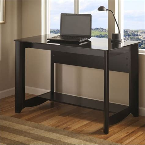 bush furniture aero writing desk bush furniture aero writing desk in black my16928 03