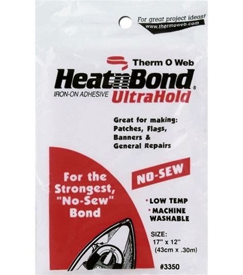 Heatn Bond No Sew Ultrahold heat n bond ultra hold iron on adhesive 17 x12 jo