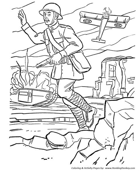 battle coloring pages armed forces day coloring pages us army world war i