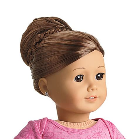 hairstyles to do on dolls american girl my ag chic bun brown for 18 quot dolls extension
