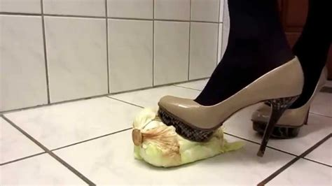 mega high heels salad crush with mega high heels