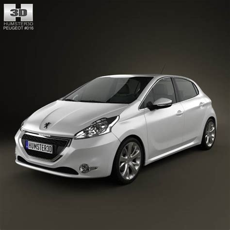 peugeot 208 models peugeot 208 5 door 2013 3d model for download in various
