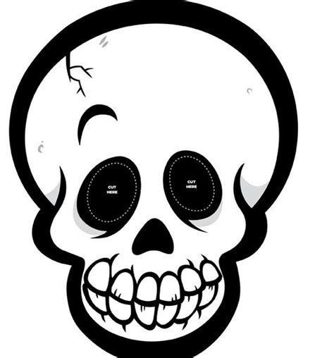 Imagenes De Calaveras Y Calabazas | recortables de dibujos de halloween m 225 scara de calavera