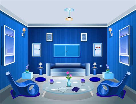 desain interior ruang tamu warna biru cat ruang tamu warna biru untuk desain interior romantis
