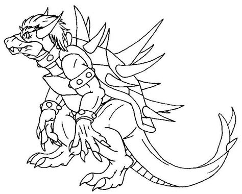 dry giga bowser free coloring pages