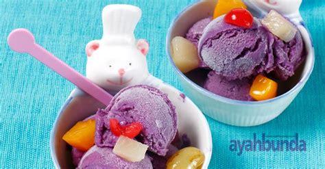 membuat es cream ubi ungu es krim ubi ungu