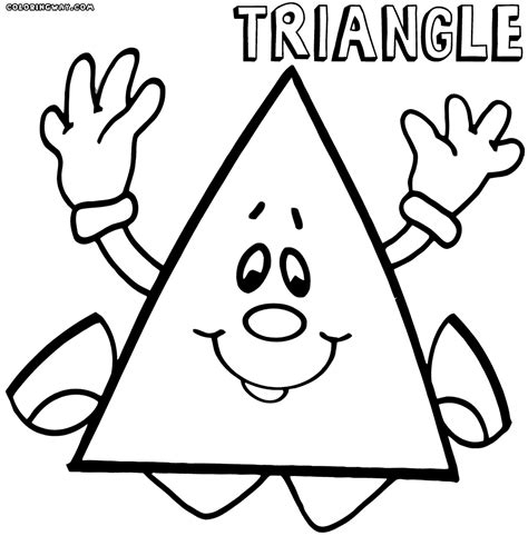triangle coloring pages coloring pages to download and print