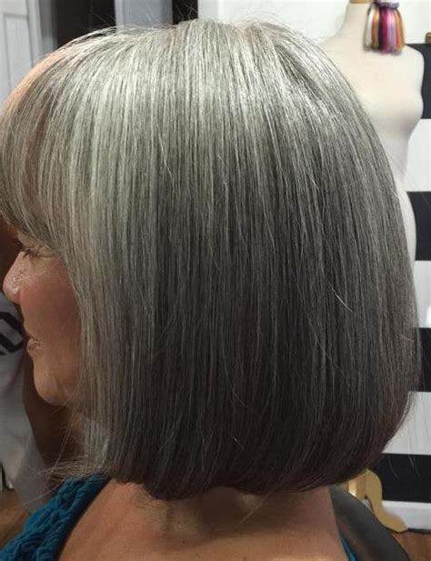 long bob low lights on silver hair 60 gorgeous hairstyles for gray hair