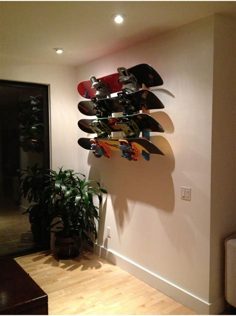 snowboard rack slotted wall mount