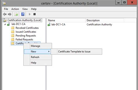 certificate authority templates creating a microsoft certificate authority template for