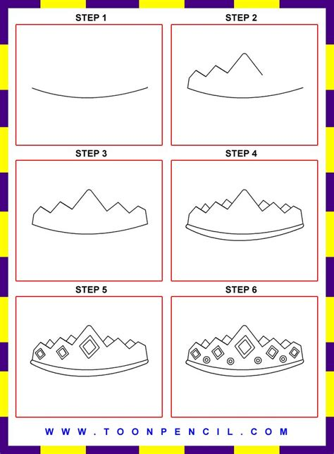 doodle drawings step by step how to draw a crown step by step for search