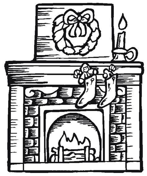 coloring pages of christmas fireplace fireplace 5 coloring page