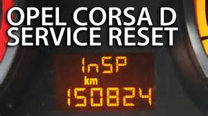 Vauxhall Astra Insp How To Reset Service Inspection Opel Corsa D Insp