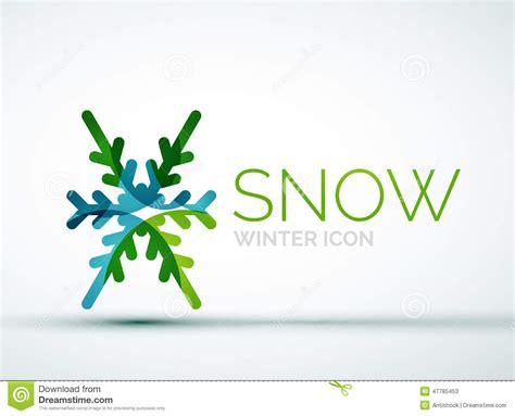 christmas snowflake company logo design stock vector