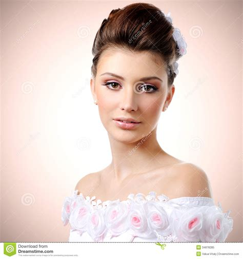 Make Up Beautistyle beautiful stock image image of womanliness 34878285
