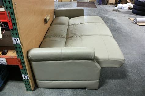 used rv sleeper sofa rv furniture used rv flexsteel tan vinyl jack knife