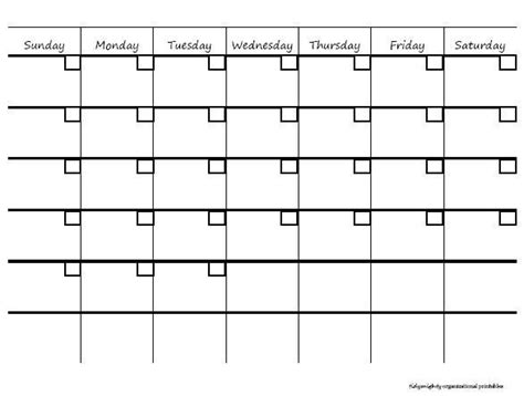 printable monthly calendar at a glance blank month at a glance calendar calendar template 2016