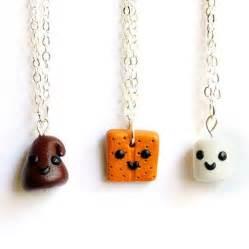 handmade s mores three way best friend necklaces we