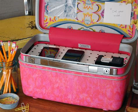 homemade charging station diy project vintage suitcase charging station design sponge