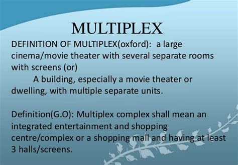 Multiplex Definition | literature final
