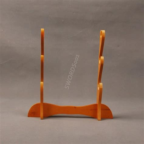 Sword Rack by Wood Three Layers Sword Stand Display Rack For Japanese