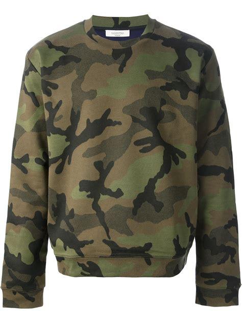 Sweater Camo 20 lyst valentino camo print sweater in green for