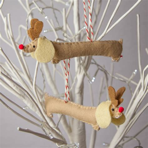 Sausage Decorations by Set Of Two Rudolf Sausage Decorations By Miss Shelly