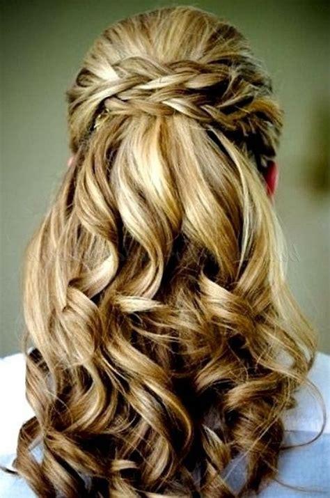 bridesmaid hairstyles down pinterest bridesmaid hairstyles half up half down immodell net