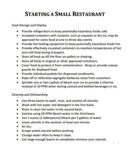 sle business plan of restaurant 5 free restaurant business plan templates excel pdf formats