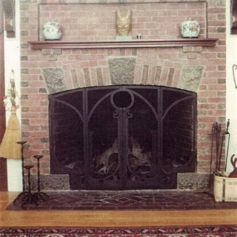 custom made arts crafts style fireplace screen by