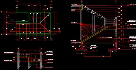 staircase section dwg file concrete staircase dwg plan for autocad designscad