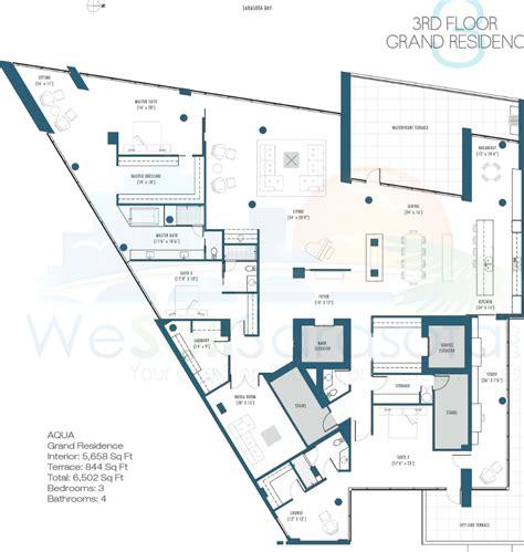 100 Central Sarasota Floor Plans by Aqua Condos For Sale Downtown Sarasota Fl