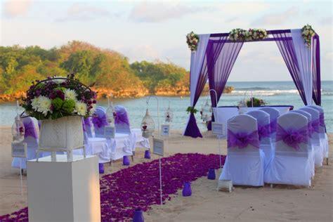 purple themed wedding