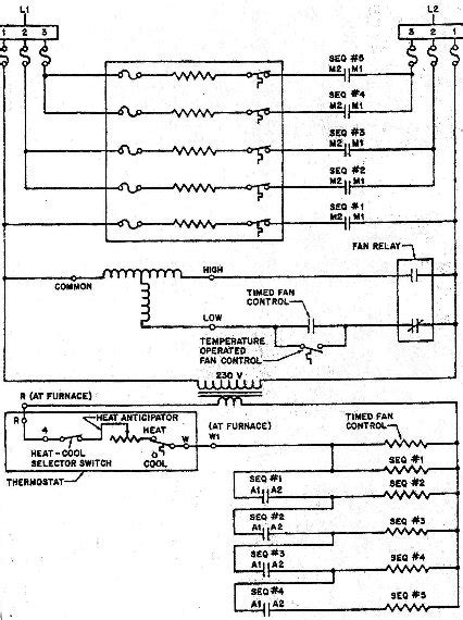 circuit electric furnace schematic wiring diagram1
