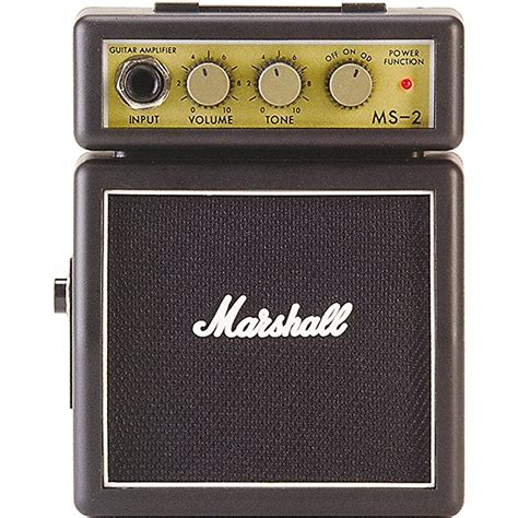 Mini Portable Guitar Lifier Marshall Ms2 Original marshall ms 2 mini music123