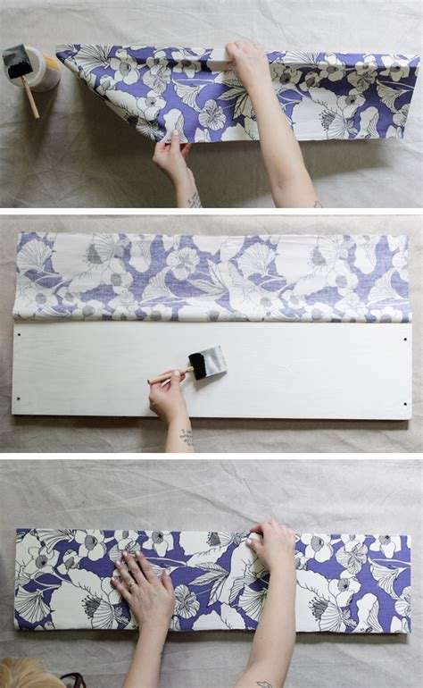 Decoupage With Fabric Tutorial - how to decoupage fabric onto shelves mod podge rocks