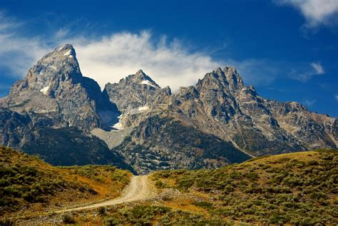 The Houes by Tetons With Autumn Road 2013