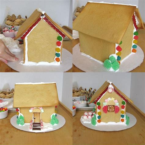 how to decorate a gingerbread house with royal icing