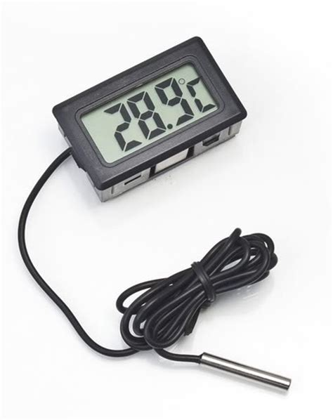 Termometer Air Aquarium lcd digital thermometer mit sensor pufferspeicher