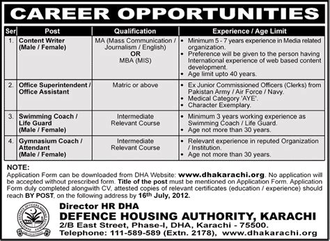 Mba In Mis Karachi by Dha Karachi Requires Content Writer And Support Staff In