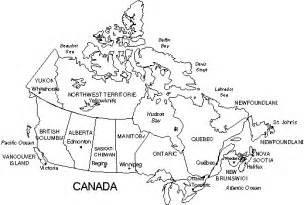 black and white map of us and canada canada map black and white
