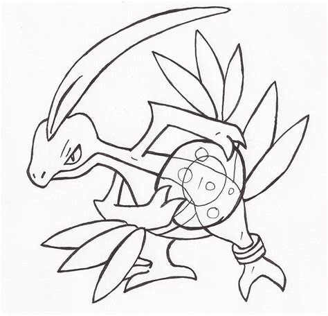 pokemon coloring pages grovyle pokemon ground type coloring home