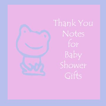 Thank You Note To Infant How To Write Thank You Notes For Baby Shower Gifts